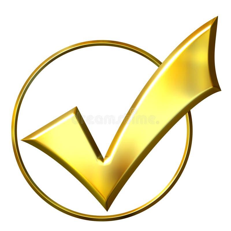 d'or du cercle 3d fait tic tac illustration de vecteur