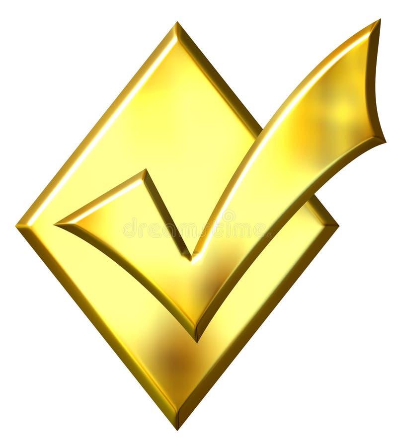 d'or du diamant 3d fait tic tac illustration libre de droits