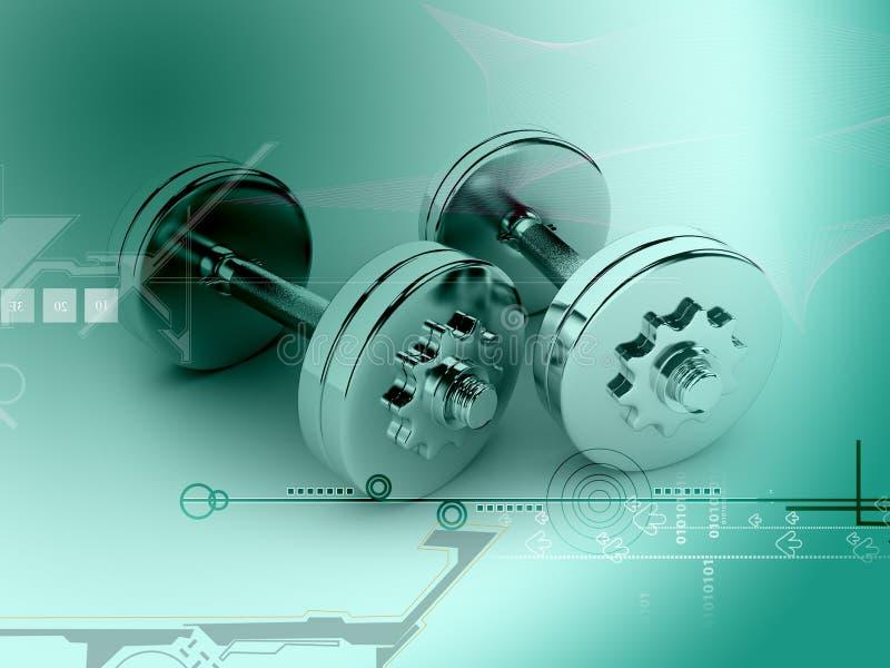 Download 3d dumbels stock illustration. Image of barbell, object - 40202723