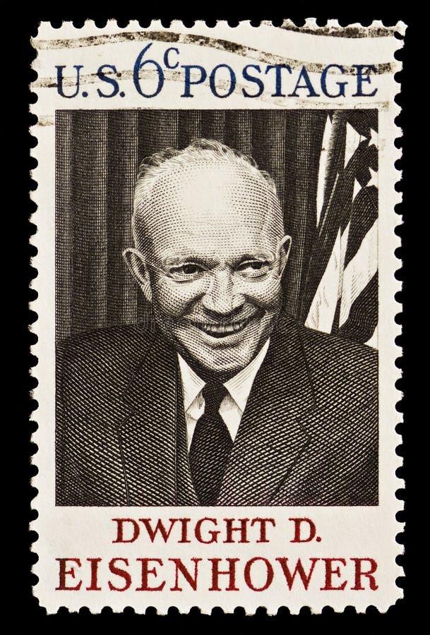d Dwight Eisenhower邮政印花税 免版税库存照片