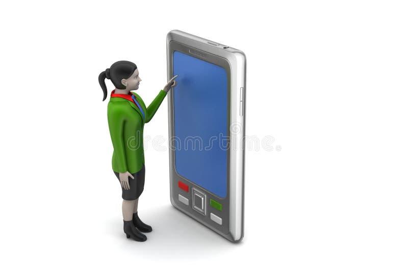 Download 3d Dziewczyna Z Pastylka Komputerem Ilustracji - Ilustracja złożonej z biznes, femaleness: 53778322