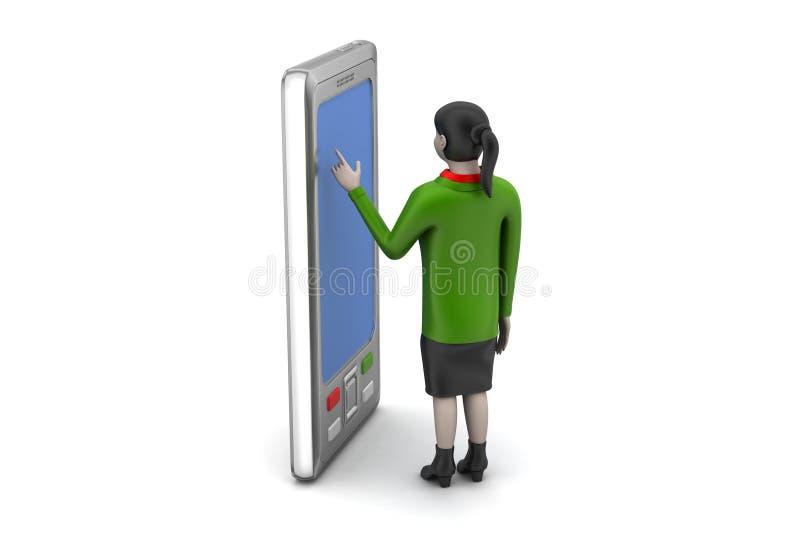 Download 3d Dziewczyna Z Pastylka Komputerem Ilustracji - Ilustracja złożonej z biznes, rzemiosła: 53778364