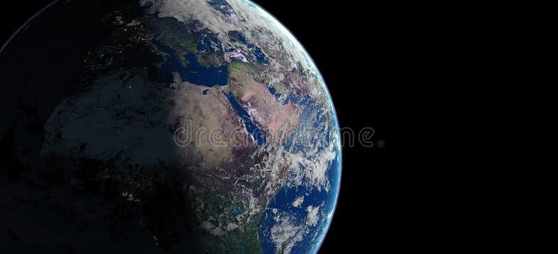 3d earth planet illustration stock illustration