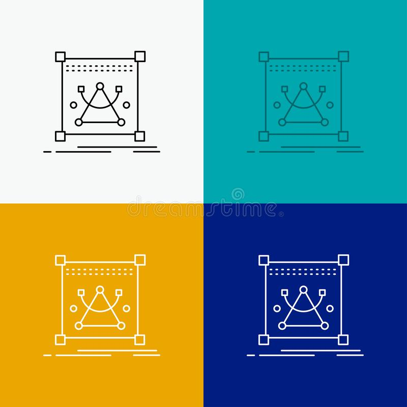 3d, edit, editing, object, resize Icon Over Various Background. Line style design, designed for web and app. Eps 10 vector. Illustration. Vector EPS10 Abstract vector illustration