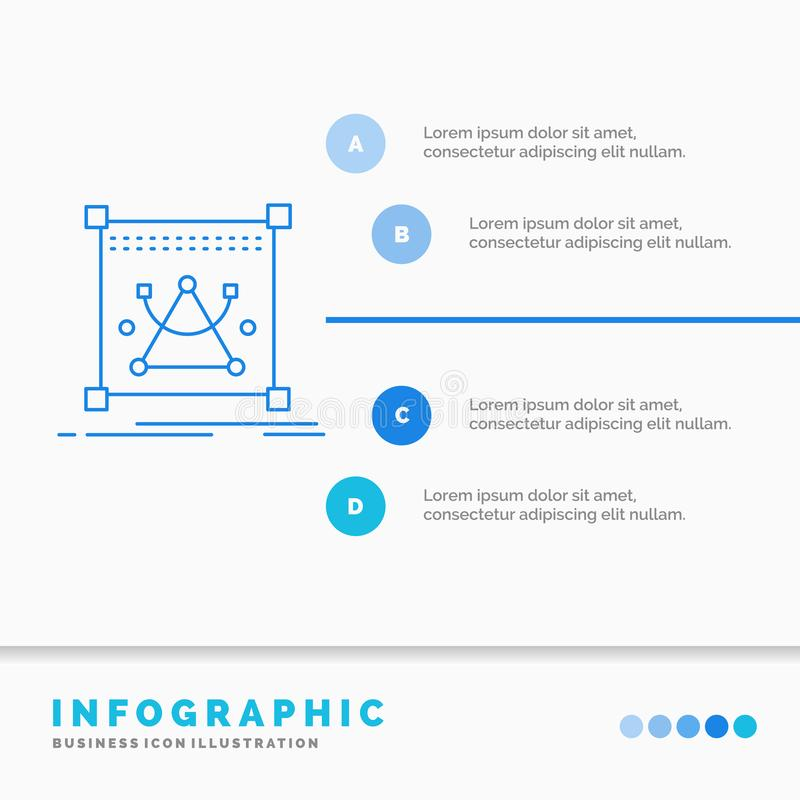 3d, edit, editing, object, resize Infographics Template for Website and Presentation. Line Blue icon infographic style vector. Illustration. Vector EPS10 vector illustration