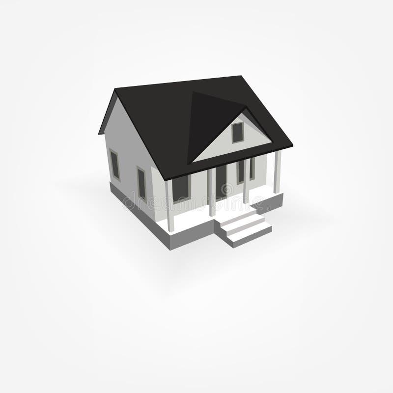 Download 3D Eenvoudig Huis vector illustratie. Illustratie bestaande uit eenvoudig - 39100292