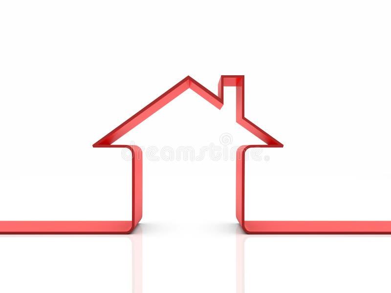 3d eenvoudig huismodel royalty-vrije illustratie