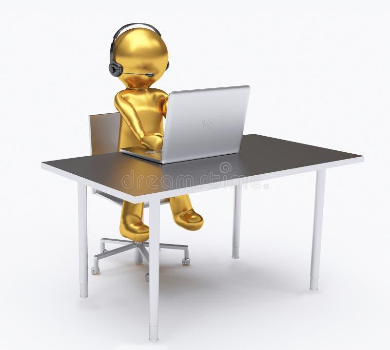 3D ejemplo, empleados que trabajan en un centro de atenci?n telef?nica libre illustration