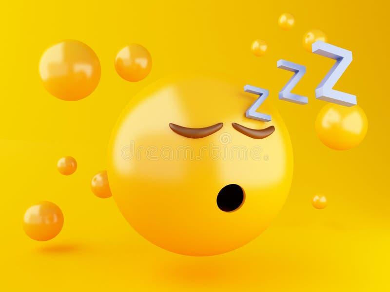3d el dormir Emoji libre illustration