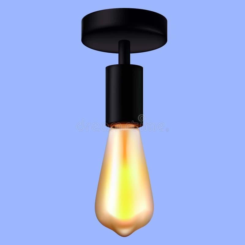 3d electric Lamp. Blue colors stock illustration