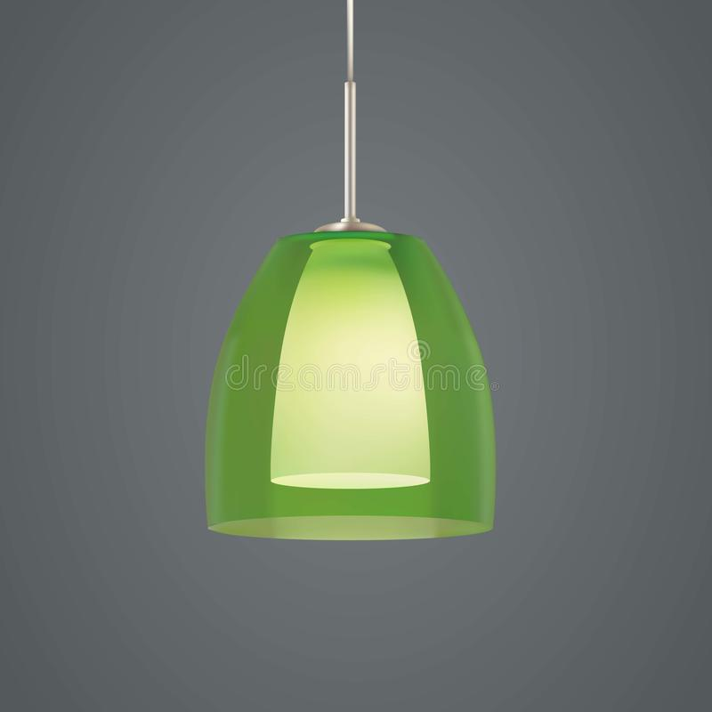 3d electric Lamp. Green colors vector illustration