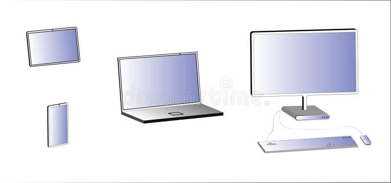 3d electro multimedialni przyrząda royalty ilustracja