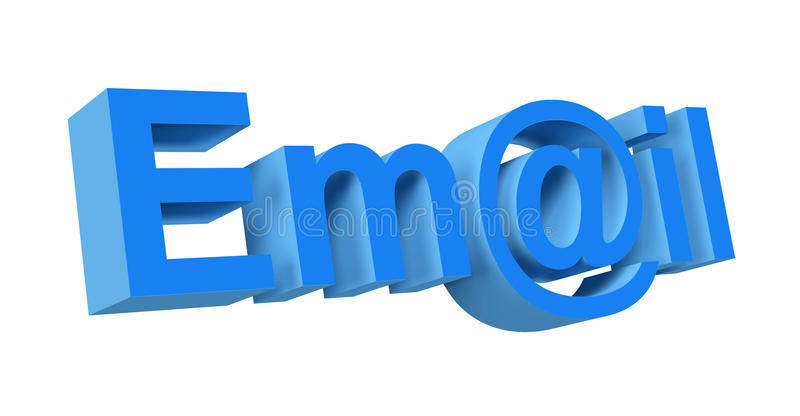 3d email royalty free illustration