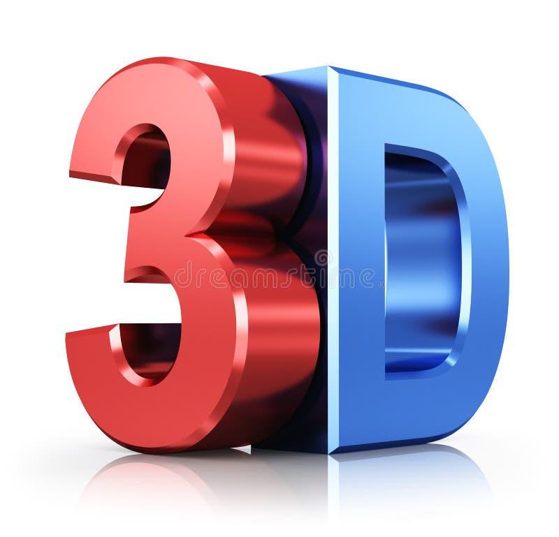 3D embleem royalty-vrije illustratie