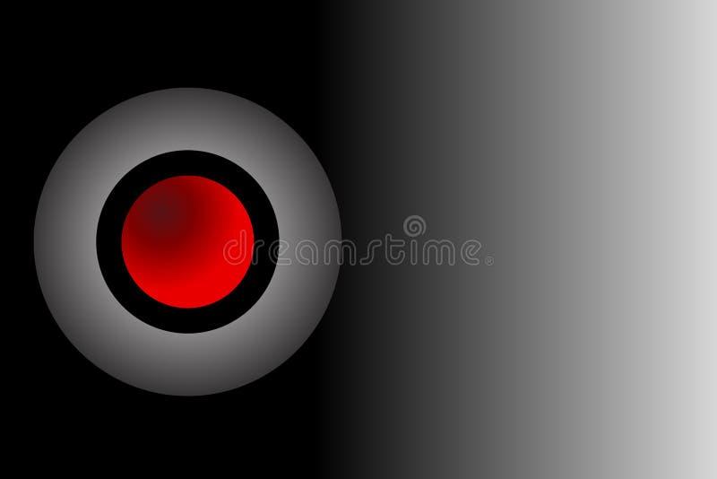 3 D embleem met in de schaduw gestelde achtergrond, vectorillustratie stock illustratie