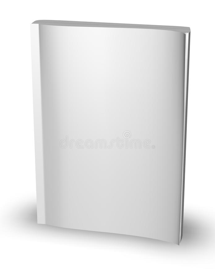 Download 3d Empty Paper Magazine, Diary Template Standing With Blank Cover  Isolated On White Stock  Diary Paper Template