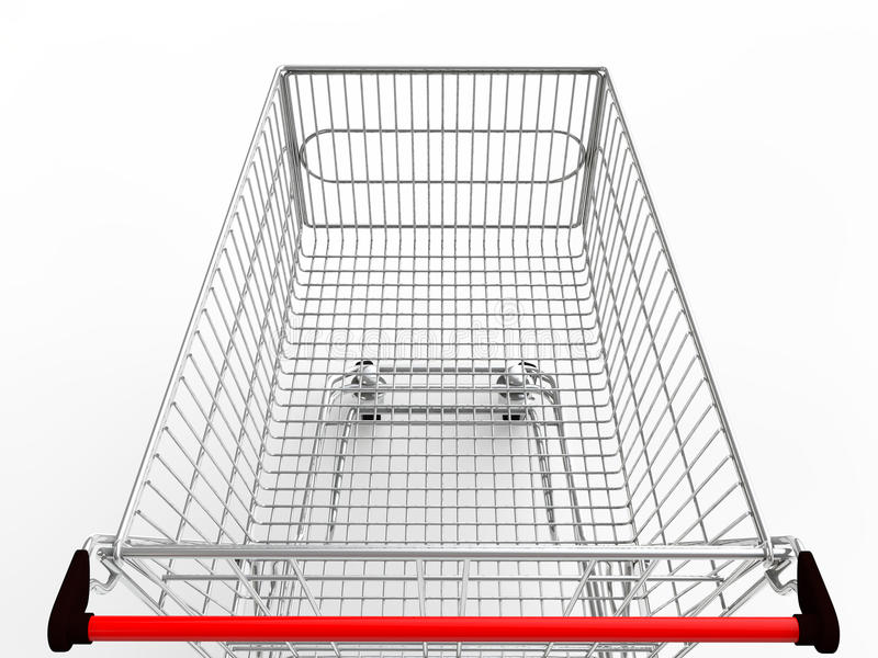 3d empty shopping cart royalty free stock images