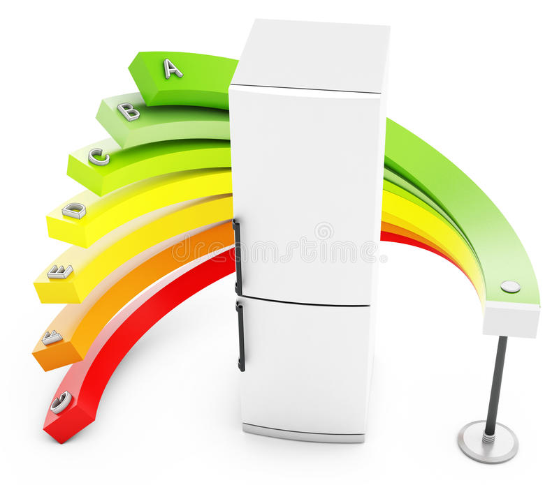 Download 3d Energy Efficiency Concept With Fridge Stock Illustration - Image: 30196782