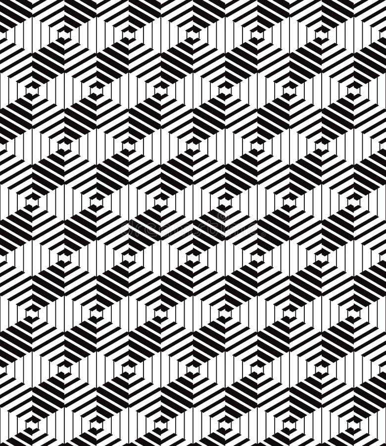 3d enferme dans une boîte le modèle sans couture optique géométrique illustration de vecteur