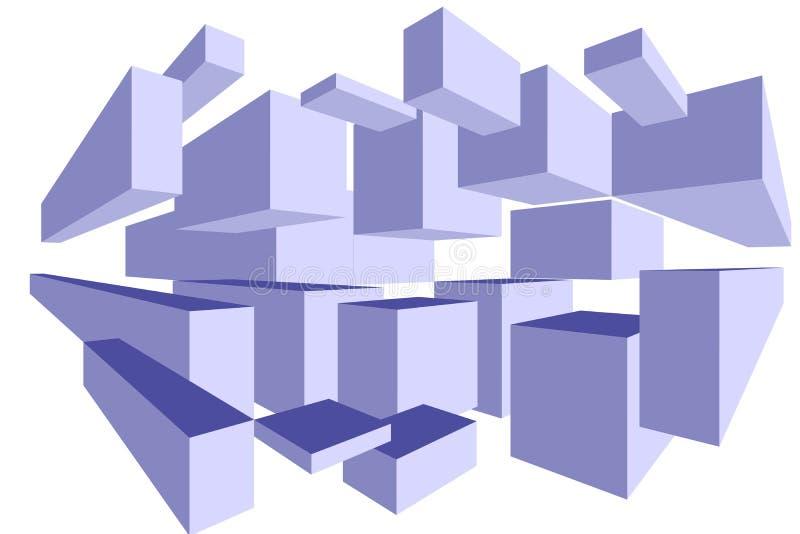 3D enferme dans une boîte le papier peint - fond dimensionnel illustration de vecteur
