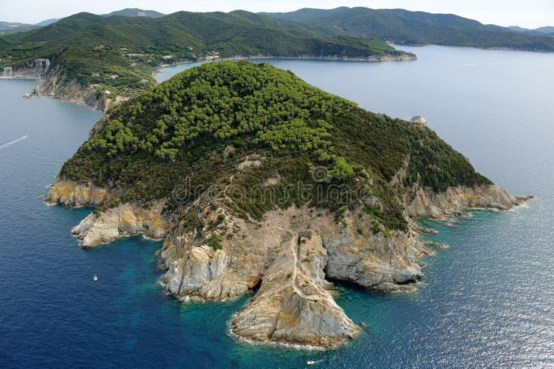 d'Enfola de la isla-Ceja de Elba imagen de archivo libre de regalías