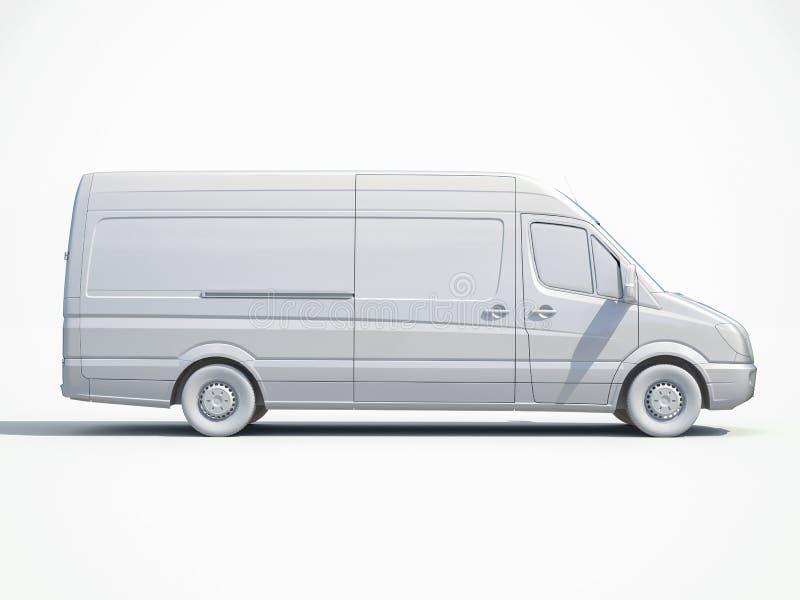 3d entrega branca Van Icon ilustração do vetor