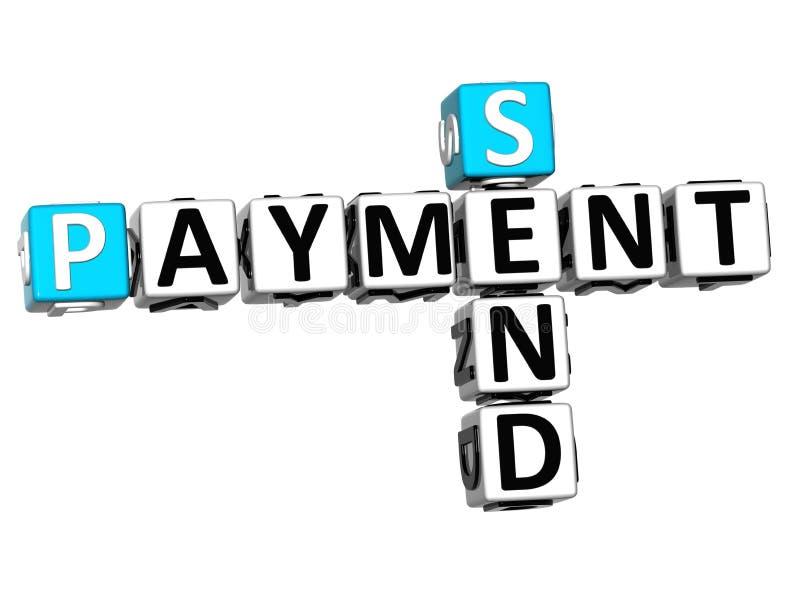 3D envían el crucigrama del pago ilustración del vector