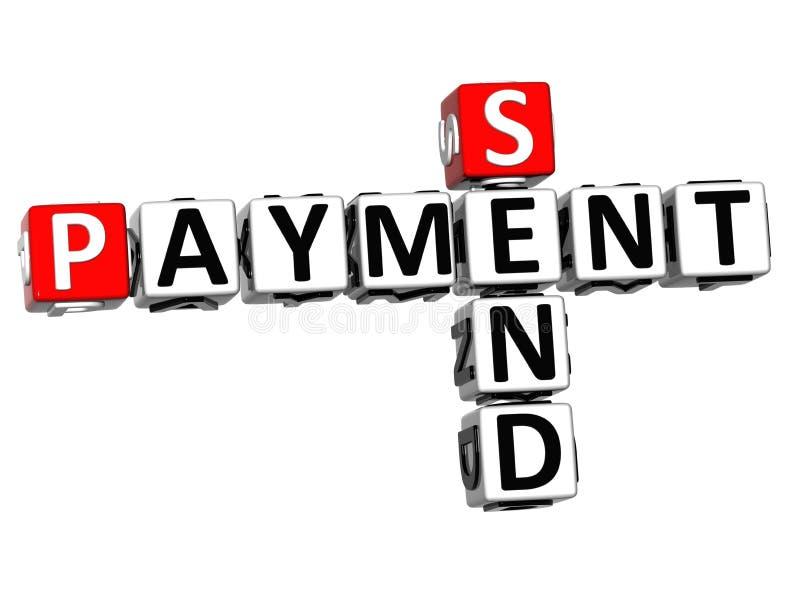 3D envían el crucigrama del pago libre illustration