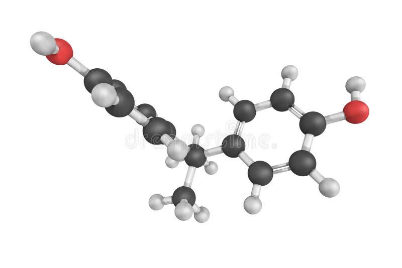 3d Epidian结构,准备骨头塑象的使用的o或对imme 库存例证