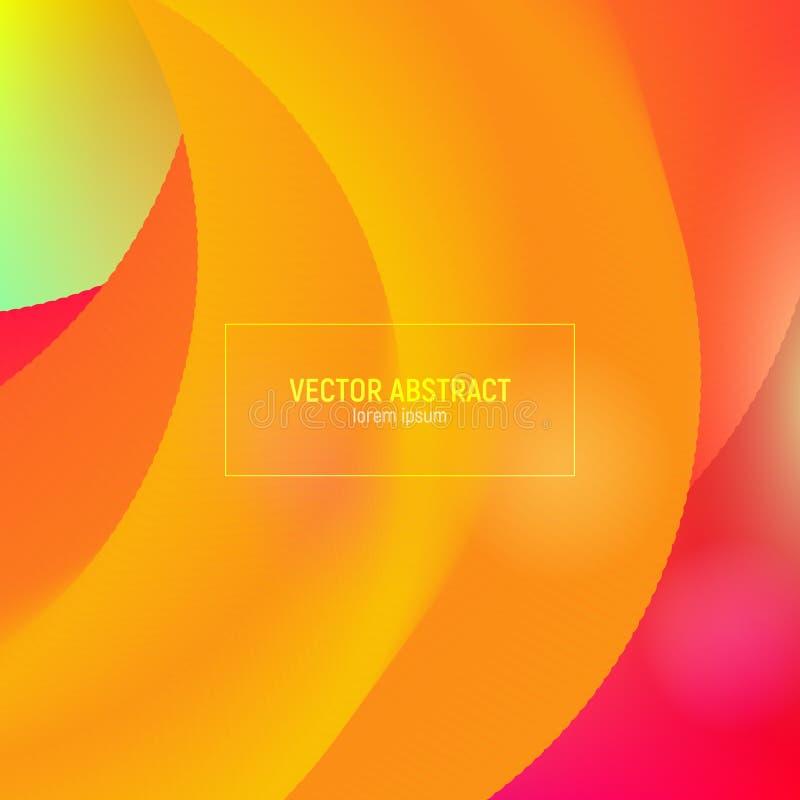 抽象3d混合背景 创造性的设计3d流程形状 有充满活力的梯度的抽象波浪盖子 ?? 库存例证
