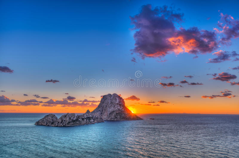 ¡ D'es Vedrà - Ibiza - la roche photos stock