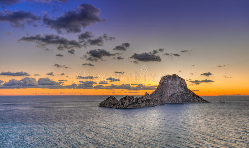 ¡ D'es Vedrà - Ibiza - roca de La images libres de droits