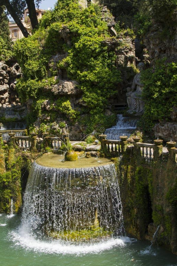 D'Este da casa de campo em Tivoli - Itália foto de stock