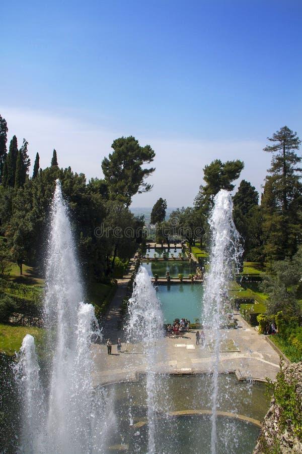 D'Este da casa de campo em Tivoli - Itália foto de stock royalty free