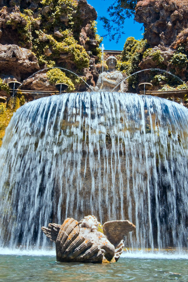 d este fontanny owalu willa fotografia stock