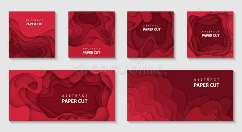 3D estilo de papel abstrato, disposição de projeto para apresentações do negócio, insetos, cartazes, cópias, decoração, cartões,  ilustração stock