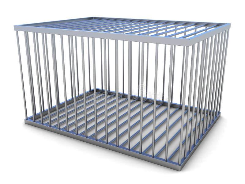 3d esvaziam a gaiola do metal ilustração royalty free
