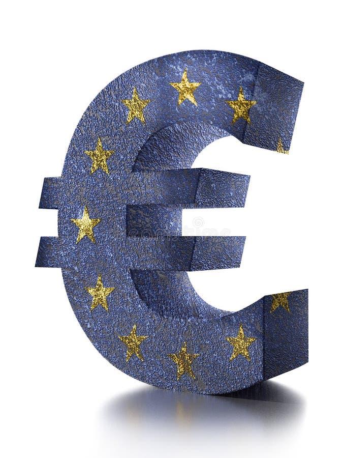 3d Euro Currency Symbol Stock Illustration Illustration Of