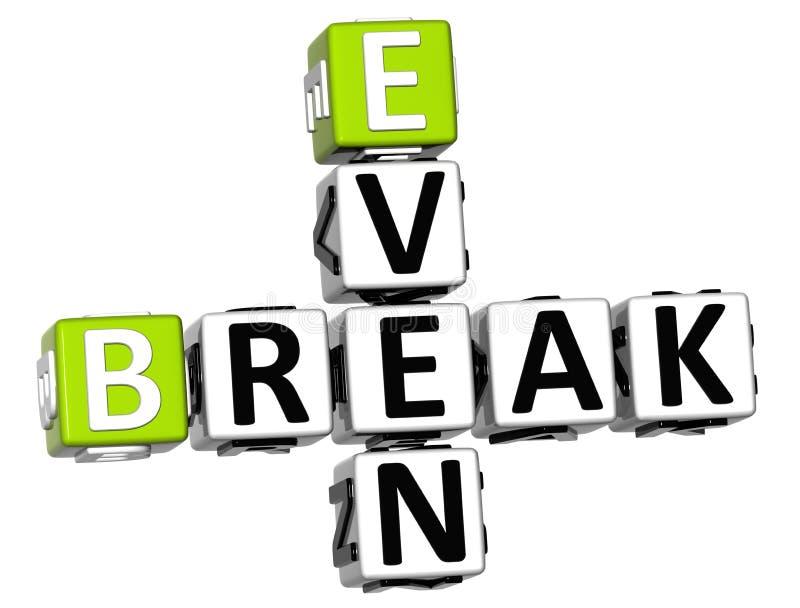 3D Even Break Crossword stock illustration