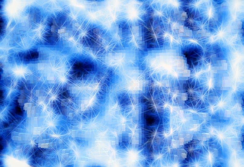 3d a expulsé les blocs bleus avec le fond clair multiple de fusées photo libre de droits