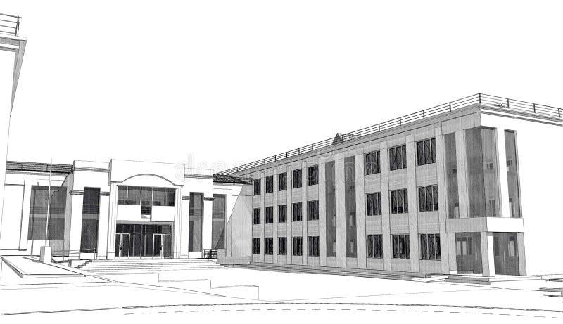 3D exterior imagen de archivo libre de regalías