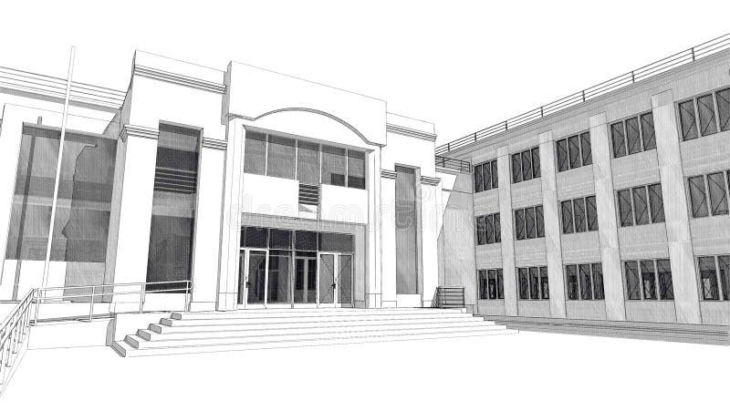 3D exterior fotografía de archivo
