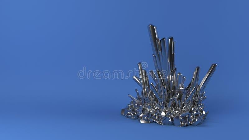 3D extracto Crystal Background geométrico fotos de archivo libres de regalías