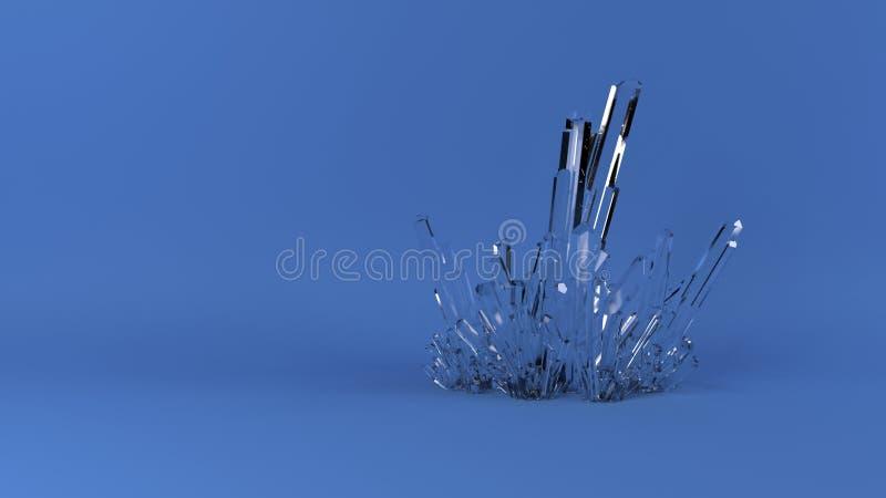 3D extracto Crystal Background geométrico foto de archivo libre de regalías