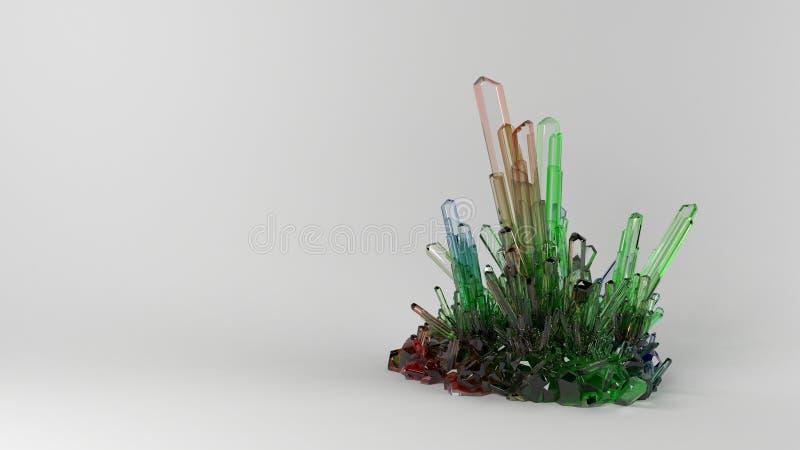 3D extracto Crystal Background geométrico imagen de archivo libre de regalías