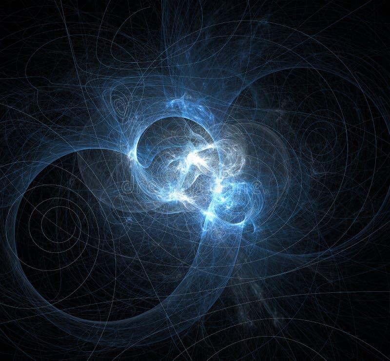 3d extrahieren Fractalillustrationshintergrund für kreatives Design vektor abbildung