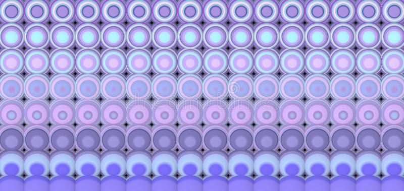 3d extrahieren mit Ziegeln gedeckten Mosaikhintergrund im purpurroten Lavendel lizenzfreie abbildung