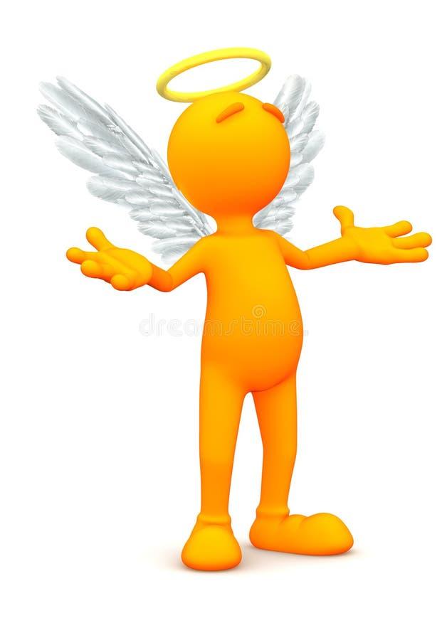 3d facet: Anioł pozycja w modlitwie royalty ilustracja