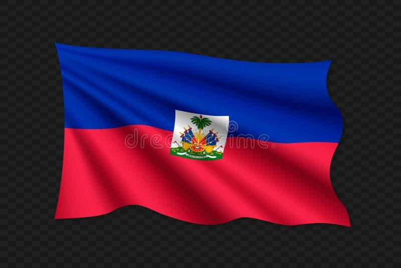 3D falowania flaga ilustracja wektor
