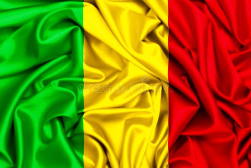 3d falowania flaga Mali ilustracji
